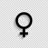 Weiblich - schwarze Vektorikone vektor abbildung