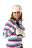 Weibliche Abbildung-Schlittschuhläufer Stockbilder