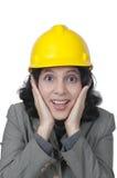 Weibliche Architekten-Überraschung Lizenzfreie Stockfotografie