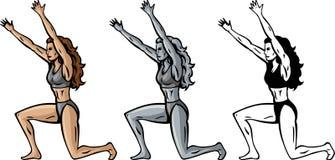 Weibliche Atlasse Lizenzfreies Stockfoto