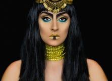 Weibliche Aufstellung Kleopatra im Studio Lizenzfreies Stockfoto