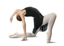 Weibliche Ballerina, die einen Tanz durchführt Lizenzfreies Stockfoto