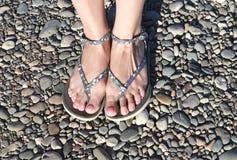 Weibliche Beine Stockfoto