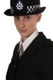 Weibliche BRITISCHE Polizei Stockfoto