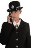 Weibliche BRITISCHE Polizeibeamte stockfoto