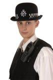 Weibliche BRITISCHE Polizeibeamte lizenzfreie stockbilder