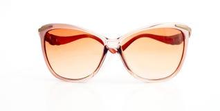 Weibliche elegante Sonnenbrille von der Front Lizenzfreie Stockfotos
