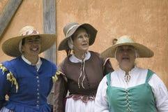 Weibliche englische Kolonisten Lizenzfreies Stockbild
