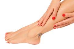 Weibliche Füße Stockbilder