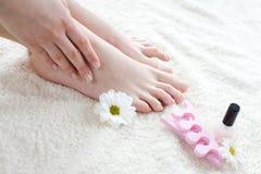 Weibliche Füße Stockfotografie