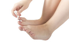 Weibliche Füße Pediküre Stockfotografie