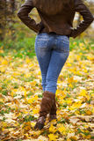 Weibliche Füße schließen oben Lizenzfreies Stockbild