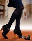Weibliche Füße und Kosmetik Lizenzfreies Stockbild