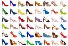 Weibliche Fußbekleidung collection-3 Lizenzfreies Stockfoto