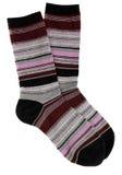 Weibliche gestreifte Socken Lizenzfreie Stockfotografie
