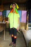 Weibliche Giraffe oder ethnisches Kayan lahw Padong Lizenzfreies Stockbild