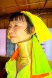 Weibliche Giraffe oder ethnisches Kayan lahw Padong Lizenzfreie Stockbilder