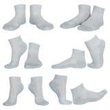 Weibliche graue Socken Stockfoto