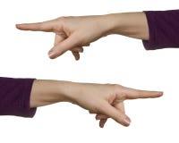 Weibliche Hand auf einem Weiß Stockfoto
