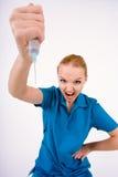Weibliche Hand mit Spritze Stockfotografie