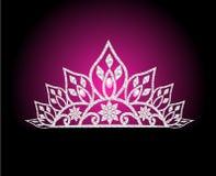 Weibliche Hochzeit des Diadem mit Perle auf stieg Lizenzfreie Stockbilder