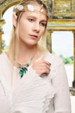 Weibliche hohe Elfe des Porträts Stockbild