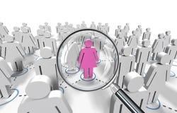 Weibliche Jobsuche Stockbild
