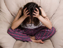 Weibliche jugendlich Frustration Lizenzfreies Stockfoto