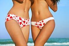 Weibliche Karosserien in den Hosen mit Inneren lizenzfreies stockbild