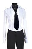 Weibliche Klage mit einer Krawatte lizenzfreie stockfotografie