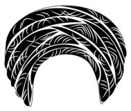 Weibliche Kopfbedeckung f?r Frau, Turban Heller gestrickter Schal Kleidung ist sch?n und stilvoll Grafisches Bild Auch im corel a vektor abbildung