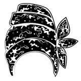 Weibliche Kopfbedeckung f?r Frau, Turban Heller gestrickter Schal Kleidung ist sch?n und stilvoll Grafisches Bild Auch im corel a stock abbildung