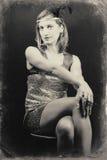 Weibliche Kunst der Art 30s stockfotos