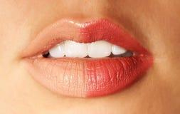 Weibliche Lippen Stockfoto