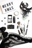 Weibliche Mode-Accessoires flach Stockfotografie