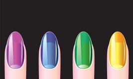 Weibliche Nägel, Maniküre Lizenzfreies Stockfoto
