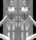 Weibliche Robotermannequins Stockbilder