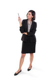 Weibliche sachverständige Darstellung in voller Länge lizenzfreies stockbild
