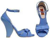 Weibliche Sandalen mit hohem Absatz Stockfoto