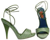 Weibliche Sandalen mit hohem Absatz Lizenzfreie Stockfotos