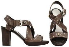 Weibliche Sandalen mit hohem Absatz Lizenzfreie Stockbilder