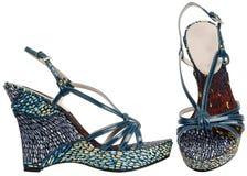 Weibliche Sandalen mit hohem Absatz Stockfotos