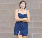 Weibliche Schönheitsausdrücke der Plusgröße lizenzfreies stockfoto
