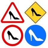 Weibliche Schuh-Zeichen lizenzfreie abbildung
