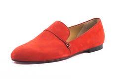 Weibliche Schuhe einer Eleganz lokalisiert Stockbilder