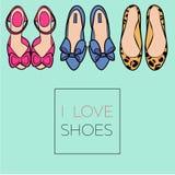 Weibliche Schuhe eingestellt Lizenzfreie Abbildung