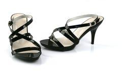 Weibliche schwarze Schuhe Lizenzfreies Stockfoto