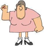 Weibliche Stärke des oberen Körpers Lizenzfreie Stockbilder