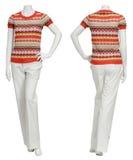Weibliche Strickjacke auf Mannequin Lizenzfreies Stockbild