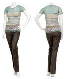 Weibliche Strickjacke auf Mannequin Lizenzfreie Stockfotos